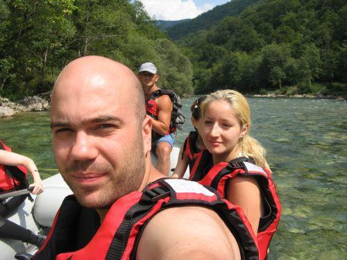 Radu + Laura @ rafting
