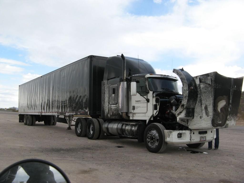 Oil on truck